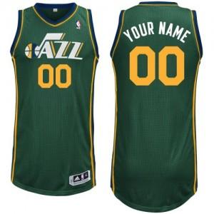 Utah Jazz Personnalisé Adidas Alternate Vert Maillot d'équipe de NBA achats en ligne - Authentic pour Homme