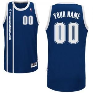 Maillot Adidas Bleu marin Alternate Oklahoma City Thunder - Swingman Personnalisé - Enfants