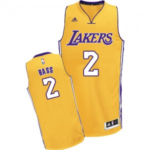 Maillot Swingman Los Angeles Lakers NBA Home Or - #2 Brandon Bass - Homme