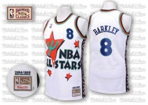 Maillot Authentic Phoenix Suns NBA Throwback 1995 All Star Blanc - #8 Charles Barkley - Homme
