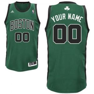 Maillot NBA Boston Celtics Personnalisé Swingman Vert (No. noir) Adidas Alternate - Homme