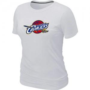 T-Shirts NBA Cleveland Cavaliers Blanc Big & Tall - Femme