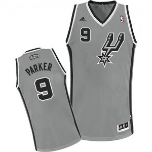 Maillot NBA San Antonio Spurs #9 Tony Parker Gris argenté Adidas Swingman Alternate - Homme