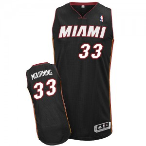 Maillot Adidas Noir Road Authentic Miami Heat - Alonzo Mourning #33 - Homme