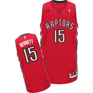 Maillot NBA Toronto Raptors #15 Anthony Bennett Rouge Adidas Swingman Road - Homme