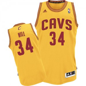 Maillot NBA Cleveland Cavaliers #34 Tyrone Hill Or Adidas Authentic Alternate - Homme