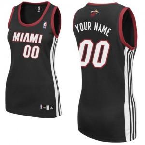 Maillot NBA Authentic Personnalisé Miami Heat Road Noir - Femme