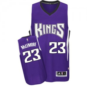 Maillot NBA Violet Ben McLemore #23 Sacramento Kings Road Authentic Homme Adidas