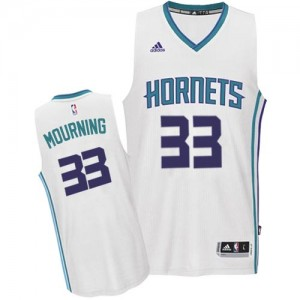 Charlotte Hornets Alonzo Mourning #33 Home Authentic Maillot d'équipe de NBA - Blanc pour Homme