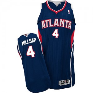 Maillot Adidas Bleu marin Road Authentic Atlanta Hawks - Paul Millsap #4 - Homme