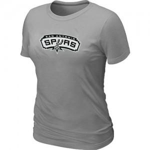 San Antonio Spurs Big & Tall Gris T-Shirts d'équipe de NBA pas cher - pour Femme