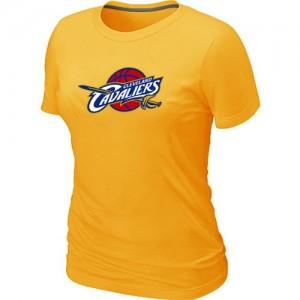 T-Shirts NBA Jaune Cleveland Cavaliers Big & Tall Femme