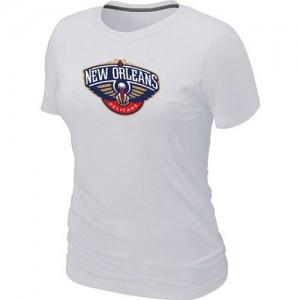 New Orleans Pelicans Big & Tall T-Shirts d'équipe de NBA - Blanc pour Femme