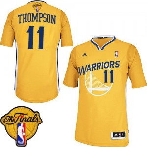 Maillot NBA Swingman Klay Thompson #11 Golden State Warriors Alternate 2015 The Finals Patch Or - Femme