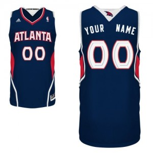 Maillot NBA Swingman Personnalisé Atlanta Hawks Road Bleu marin - Enfants