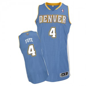 Maillot Adidas Bleu clair Road Authentic Denver Nuggets - Randy Foye #4 - Homme