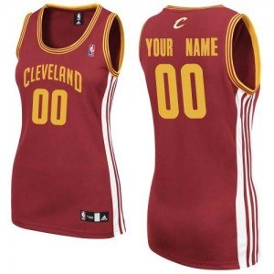 Maillot Adidas Vin Rouge Road Cleveland Cavaliers - Authentic Personnalisé - Femme