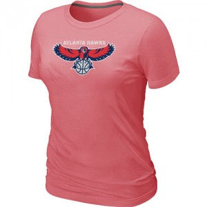 Atlanta Hawks Big & Tall T-Shirts d'équipe de NBA - Rose pour Femme