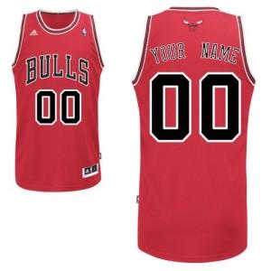 Maillot NBA Rouge Swingman Personnalisé Chicago Bulls Road Homme Adidas