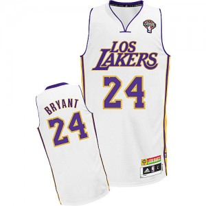 Maillot NBA Authentic Kobe Bryant #24 Los Angeles Lakers Latin Nights Blanc - Homme