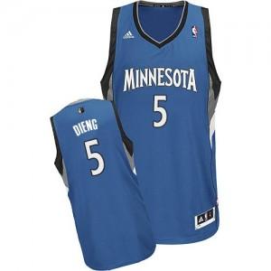 Maillot NBA Slate Blue Gorgui Dieng #5 Minnesota Timberwolves Road Swingman Homme Adidas