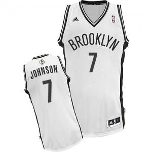Brooklyn Nets Joe Johnson #7 Home Swingman Maillot d'équipe de NBA - Blanc pour Homme