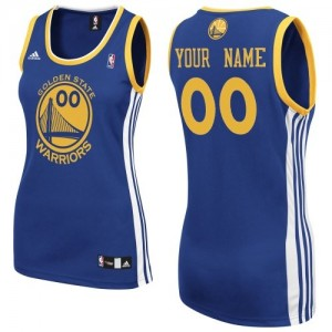 Maillot NBA Swingman Personnalisé Golden State Warriors Road Bleu royal - Femme