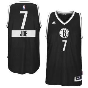 Maillot Adidas Noir 2014-15 Christmas Day Swingman Brooklyn Nets - Joe Johnson #7 - Homme