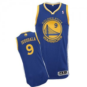 Golden State Warriors #9 Adidas Road Bleu royal Authentic Maillot d'équipe de NBA Vente pas cher - Andre Iguodala pour Homme