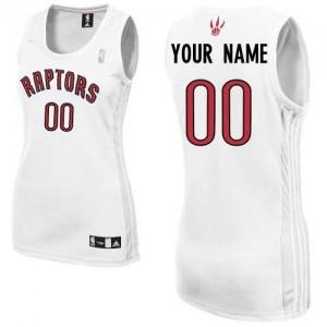 Toronto Raptors Authentic Personnalisé Home Maillot d'équipe de NBA - Blanc pour Femme
