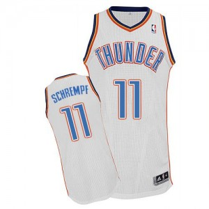 Maillot NBA Blanc Detlef Schrempf #11 Oklahoma City Thunder Home Authentic Homme Adidas