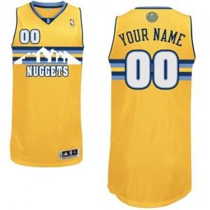 Denver Nuggets Personnalisé Adidas Alternate Or Maillot d'équipe de NBA pour pas cher - Authentic pour Homme