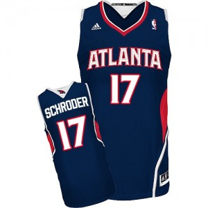 Maillot Adidas Bleu marin Road Swingman Atlanta Hawks - Dennis Schroder #17 - Homme