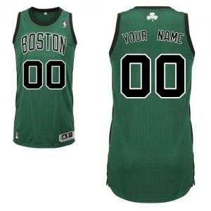Maillot NBA Authentic Personnalisé Boston Celtics Alternate Vert (No. noir) - Homme
