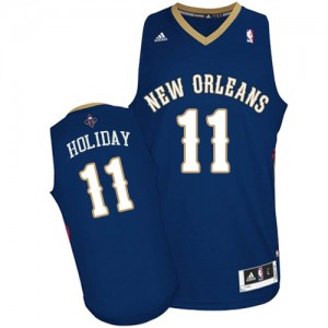 Maillot NBA Swingman Jrue Holiday #11 New Orleans Pelicans Road Bleu marin - Homme