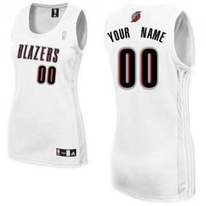 Maillot NBA Blanc Authentic Personnalisé Portland Trail Blazers Home Femme Adidas