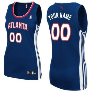 Maillot Atlanta Hawks NBA Road Bleu marin - Personnalisé Authentic - Femme