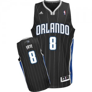 Orlando Magic #8 Adidas Alternate Noir Swingman Maillot d'équipe de NBA 100% authentique - Channing Frye pour Homme