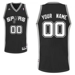 Maillot NBA San Antonio Spurs Personnalisé Swingman Noir Adidas Road - Homme