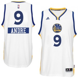 Maillot Adidas Blanc 2014-15 Christmas Day Authentic Golden State Warriors - Andre Iguodala #9 - Homme