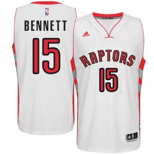 Maillot NBA Blanc Anthony Bennett #15 Toronto Raptors Home Swingman Homme Adidas