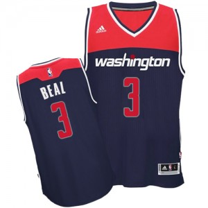 Maillot Adidas Bleu marin Alternate Authentic Washington Wizards - Bradley Beal #3 - Homme