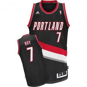 Maillot NBA Portland Trail Blazers #7 Brandon Roy Noir Adidas Swingman Road - Homme