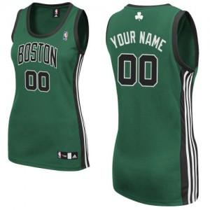 Maillot NBA Boston Celtics Personnalisé Authentic Vert (No. noir) Adidas Alternate - Femme