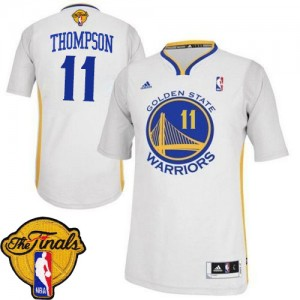 Maillot Adidas Blanc Alternate 2015 The Finals Patch Swingman Golden State Warriors - Klay Thompson #11 - Femme