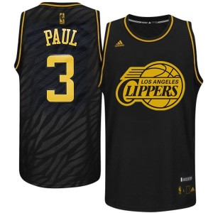 Maillot NBA Noir Chris Paul #3 Los Angeles Clippers Precious Metals Fashion Authentic Homme Adidas