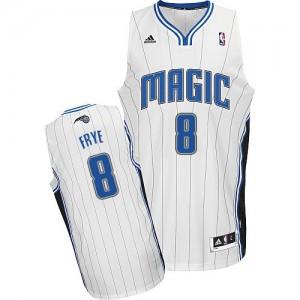Orlando Magic #8 Adidas Home Blanc Swingman Maillot d'équipe de NBA la meilleure qualité - Channing Frye pour Homme