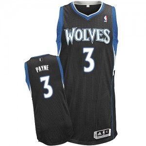 Maillot NBA Authentic Adreian Payne #3 Minnesota Timberwolves Alternate Noir - Homme