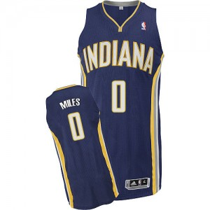 Maillot Adidas Bleu marin Road Authentic Indiana Pacers - C.J. Miles #0 - Homme