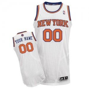 Maillot Adidas Blanc Home New York Knicks - Authentic Personnalisé - Enfants
